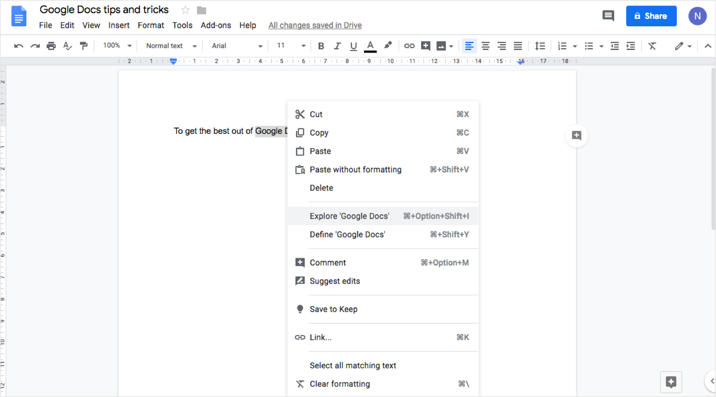 Google Docs tips and tricks - Namecheap