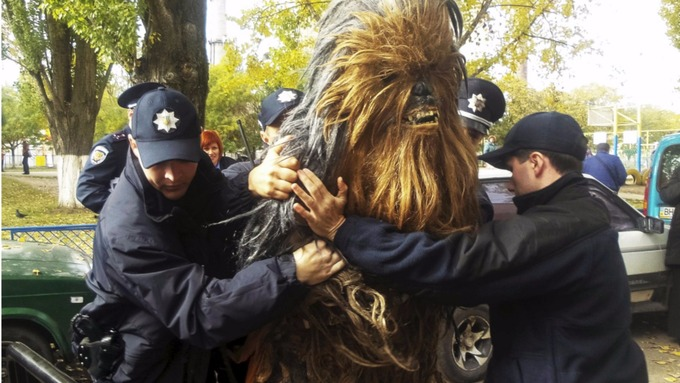 Credit: Reuters - Star Wars' Chewbacca arrested