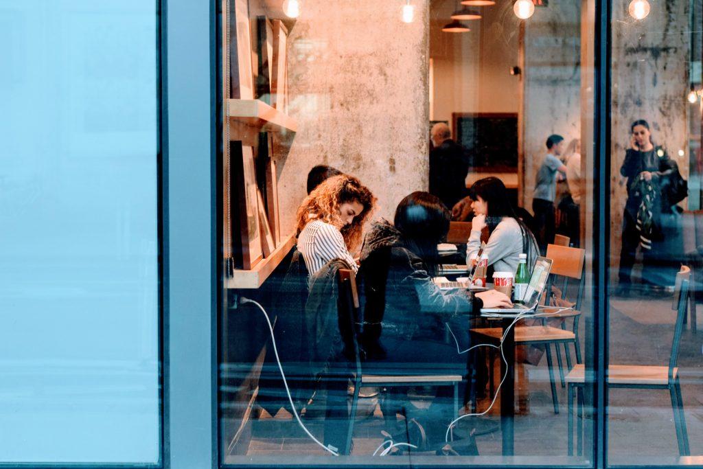 people in coffeeshop