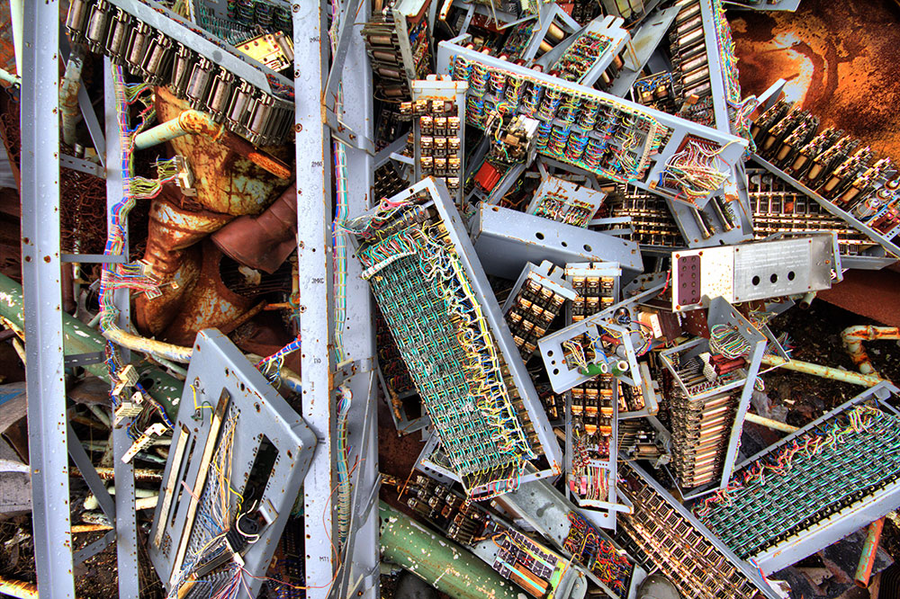 pile of used circuit boards