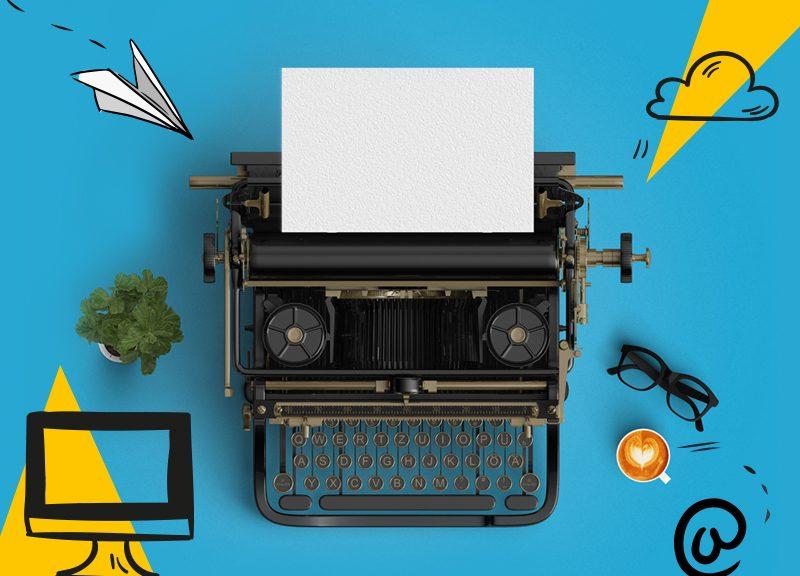 Typewriter to encourage storytelling