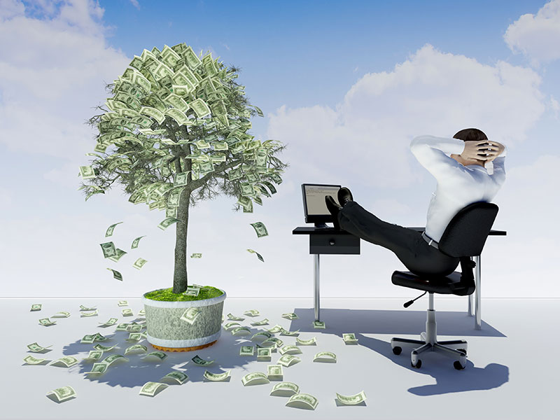 man and money tree