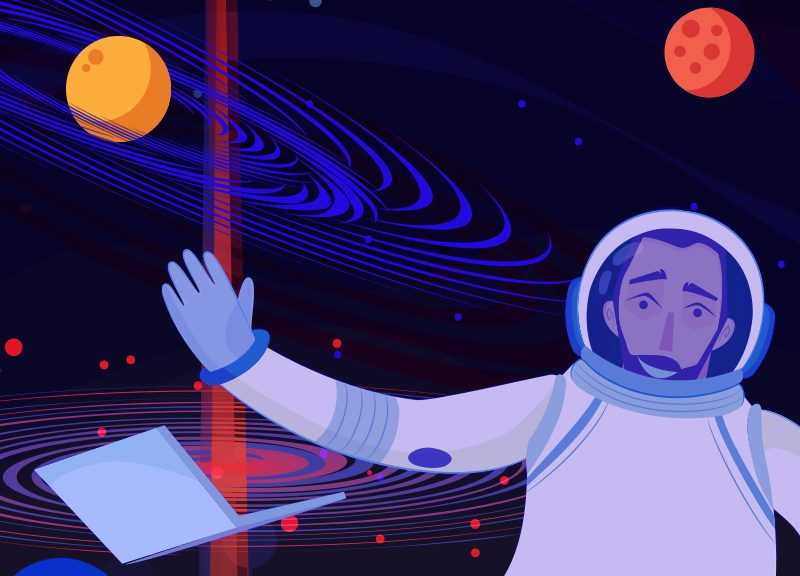 Astronaut illustrating VPS hosting