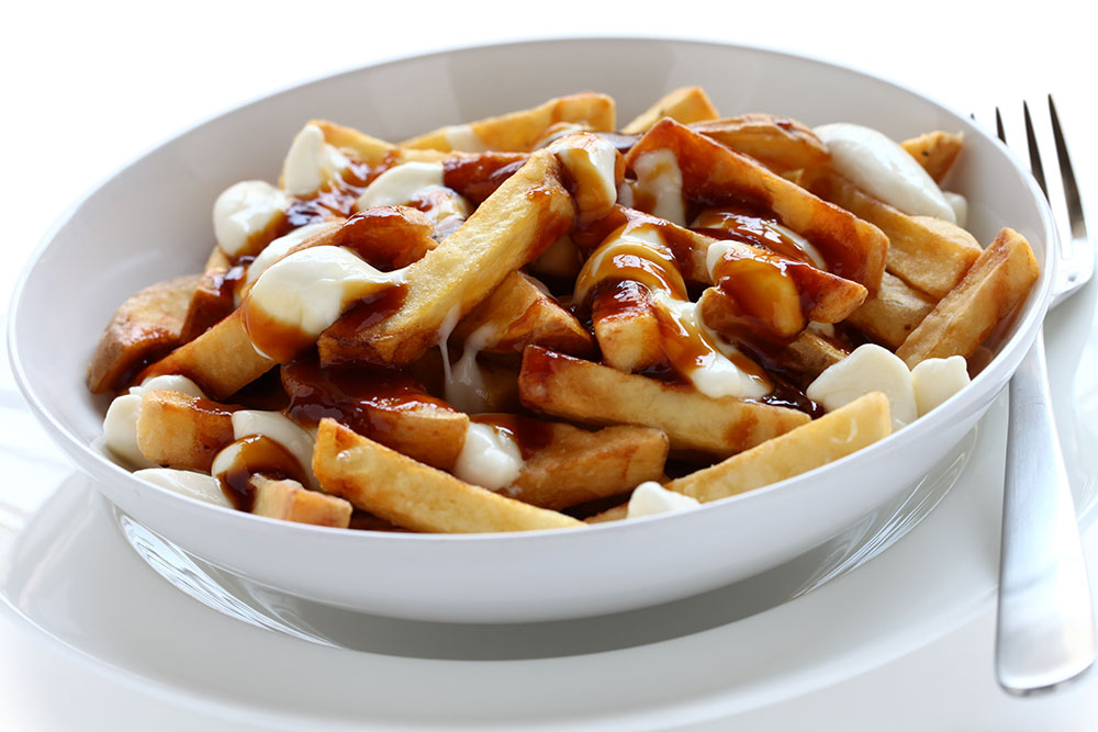 dish of poutine