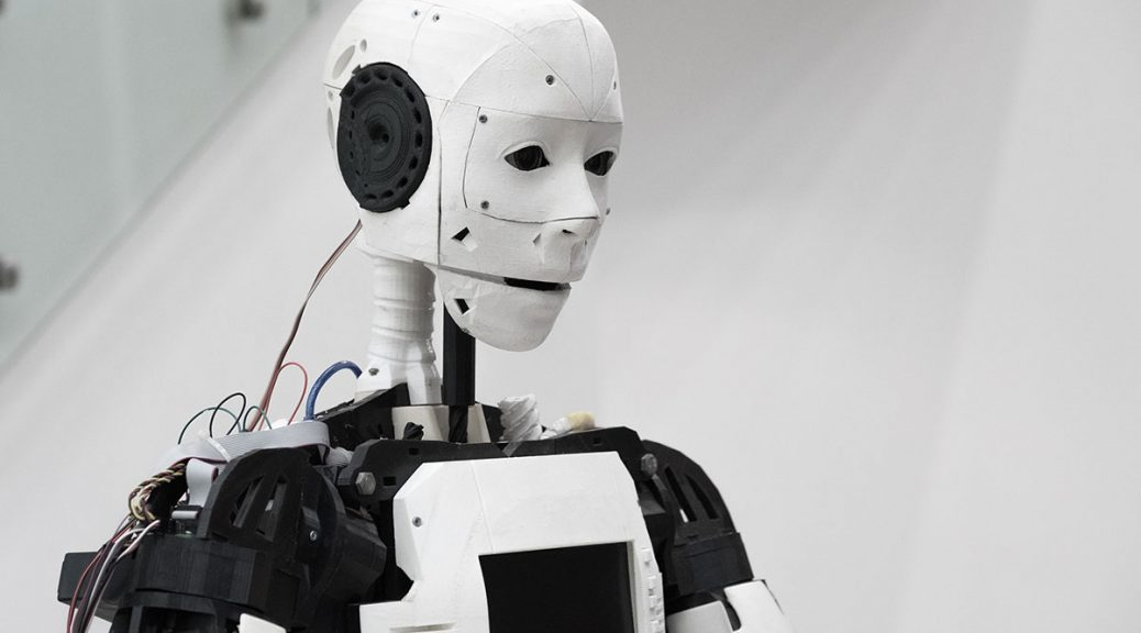 Image of talking robot