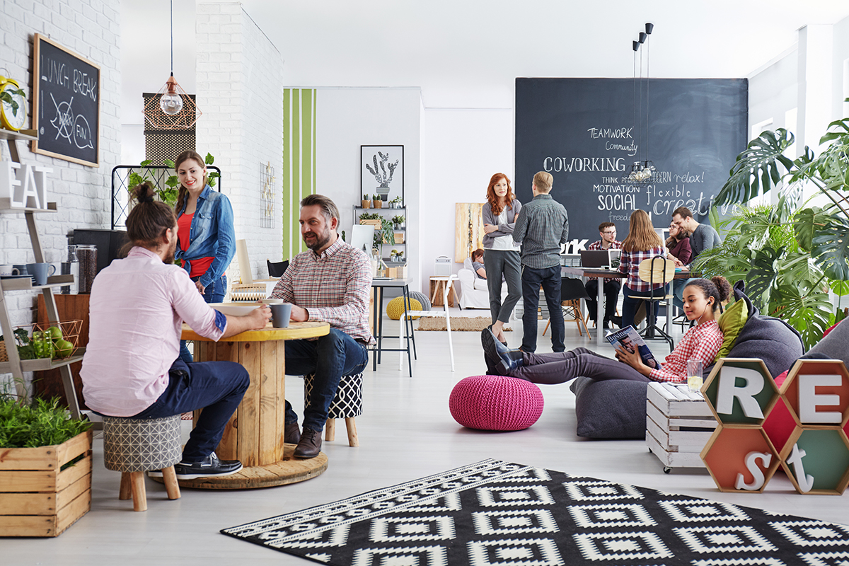 people in a coworking space