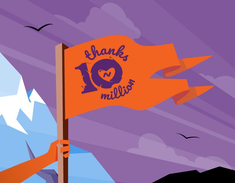 Flag celebrates 10 million domains at Namecheap