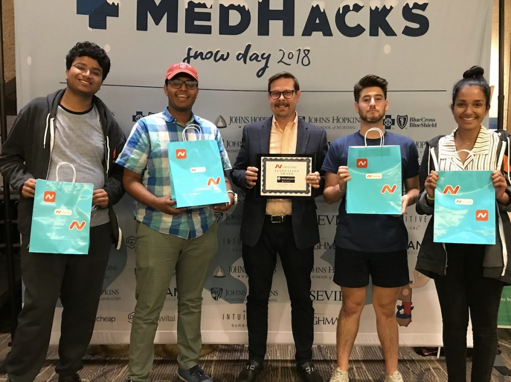 winning team at Medhacks