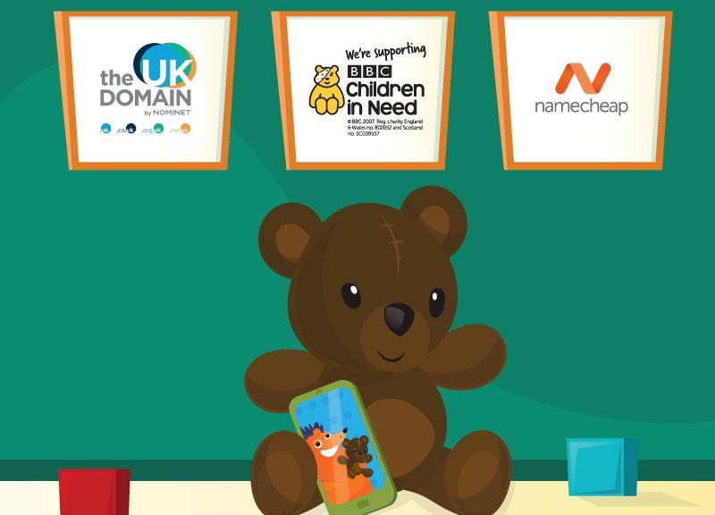 teddy bear promoting BBC Children in Need