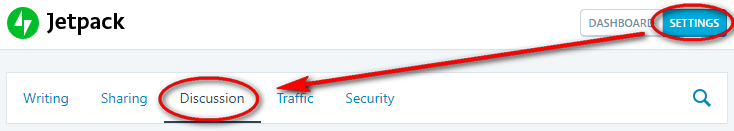 screenshot of comments option in Jetpack