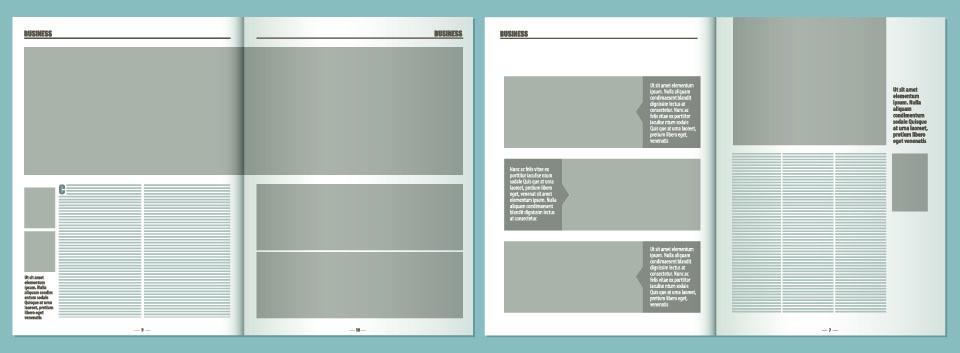 magazine layout mockup