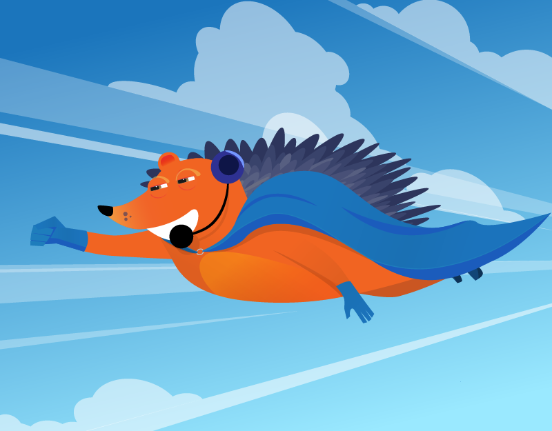 Flying Hedgehog