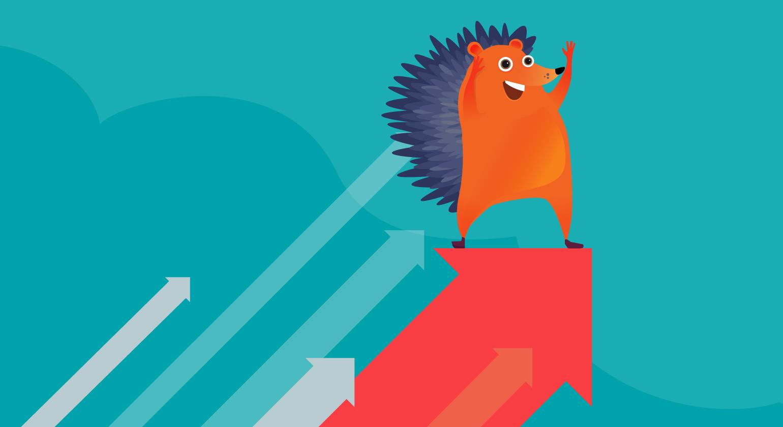 hedgehog on arrows