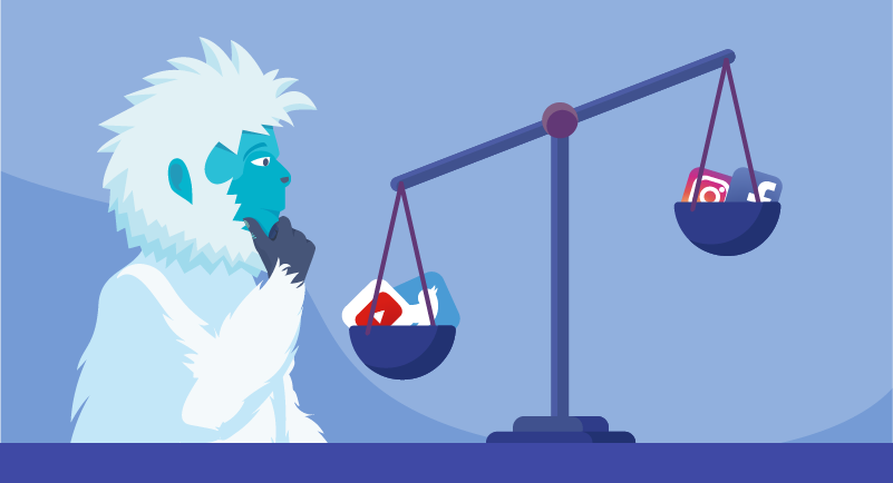 Yeti weighing the different social media options