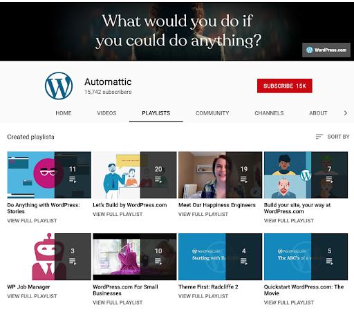 Automattic YouTube channel