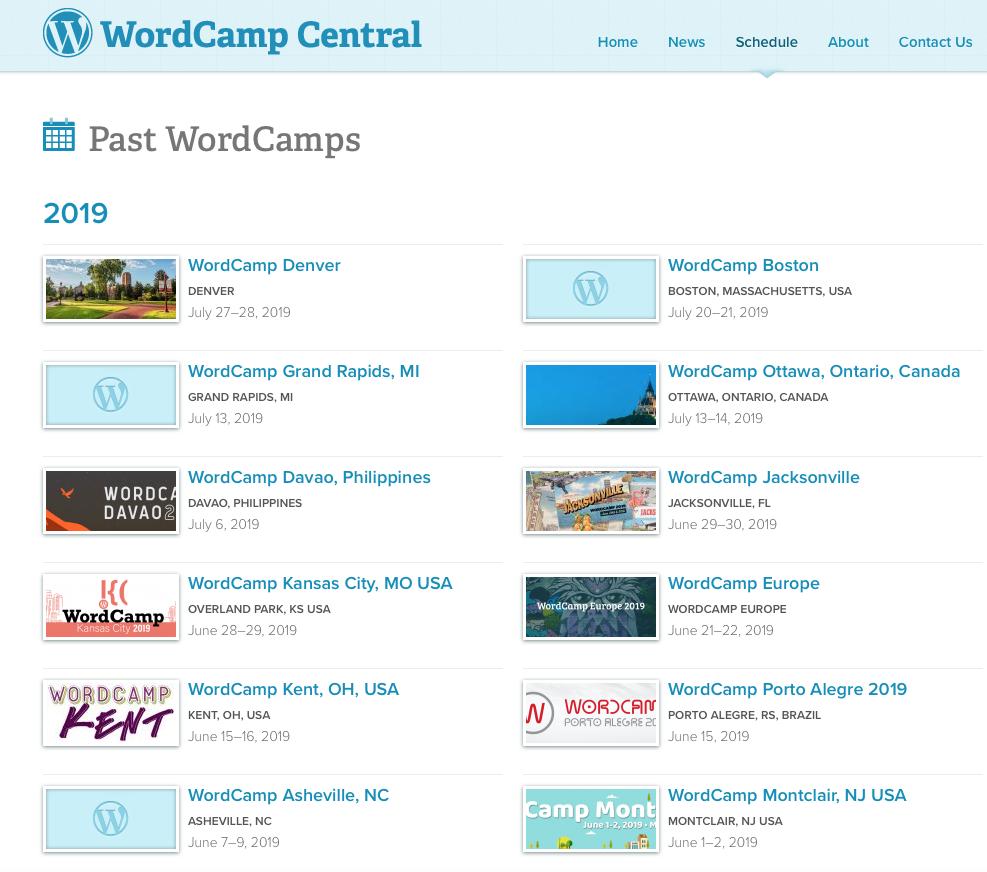 WordCamp screenshot