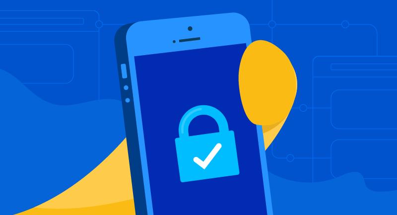 SSL padlock on mobile