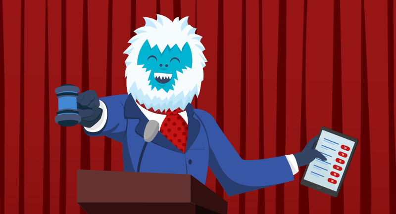 Yeti auctioning TLDs