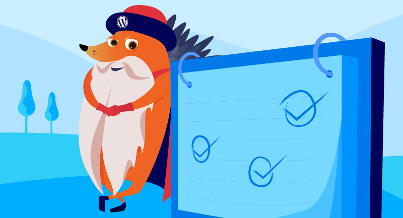 Gutenberg hedgehog with checklist