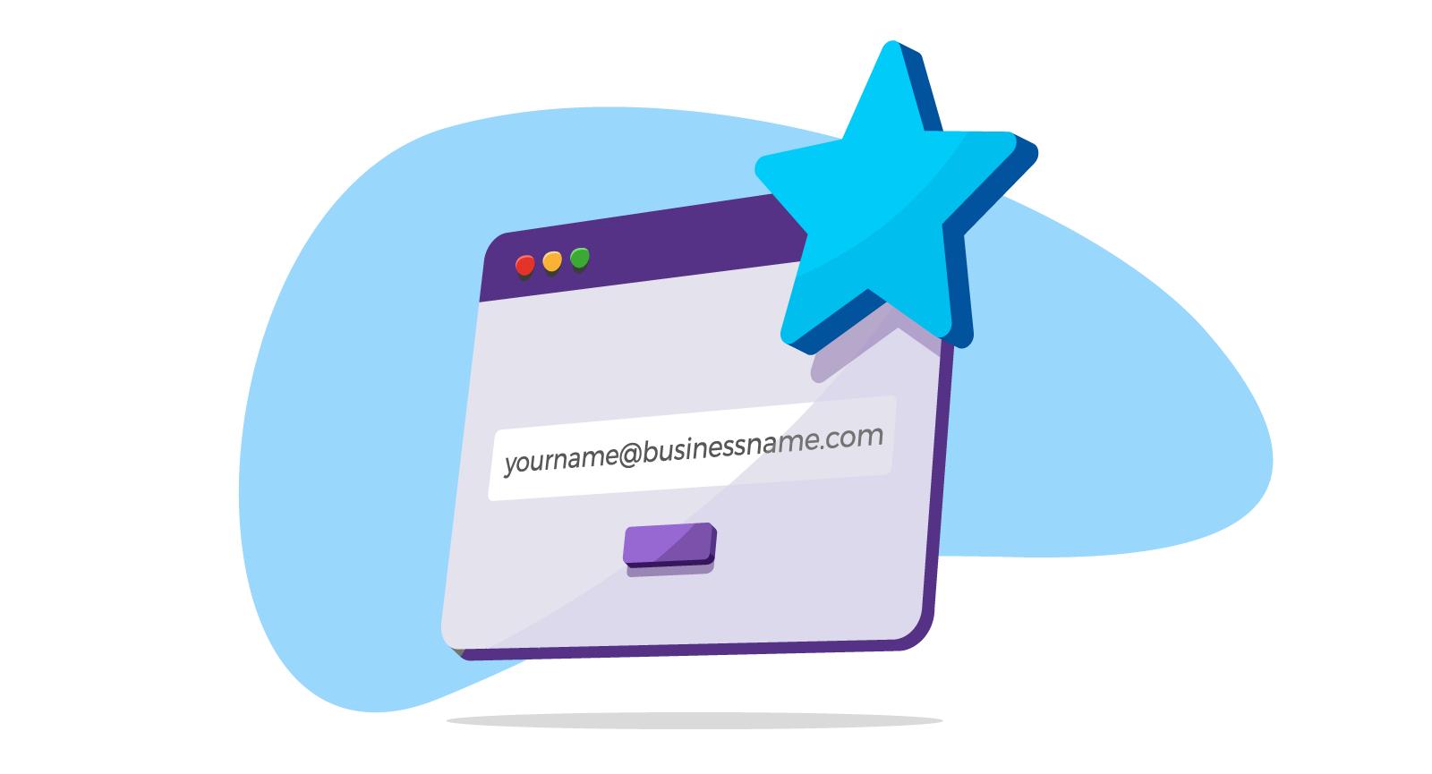 illustration of domain based email