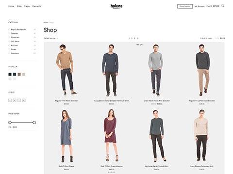 Halena example screenshot